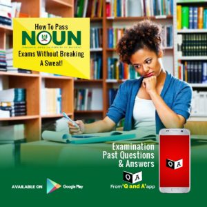 NOUN Past Questions and Answers